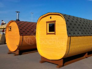 Выставочная площадка бань бочек в Москве МКАД 65 км