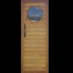 Липовая дверь с окошком