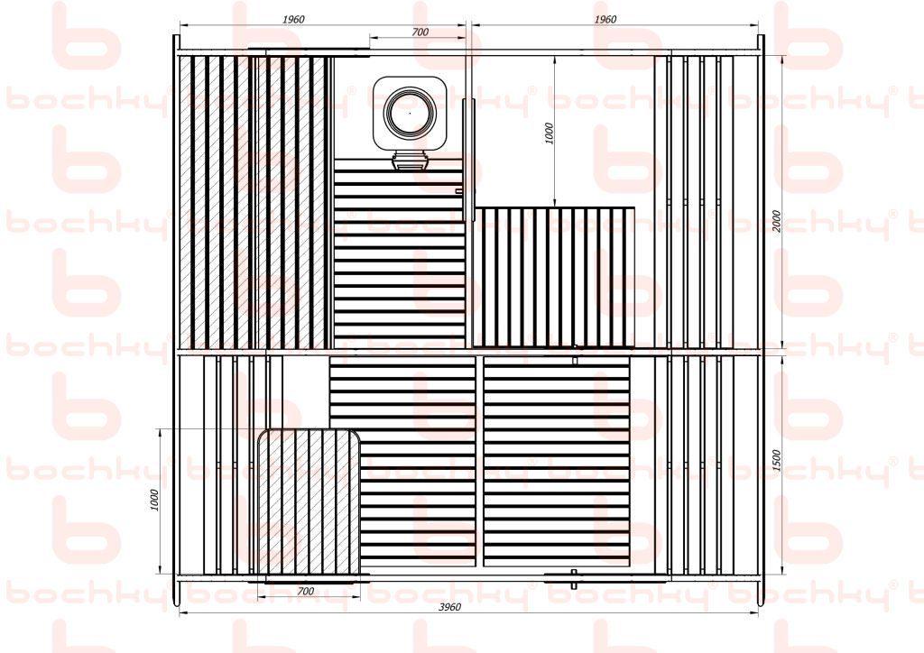 Баня-овалбочка 4х4