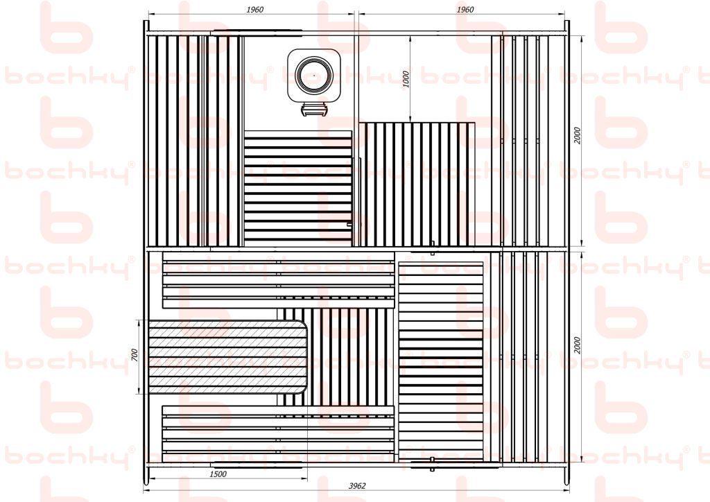Баня-овалбочка 4х45
