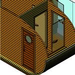 Доп перегородка с дверью в комнате отдыха
