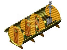 Баня-бочка Мега-3