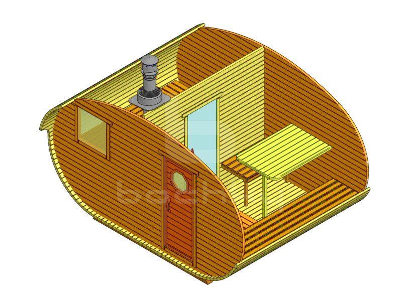 Баня-овалбочка 4х3