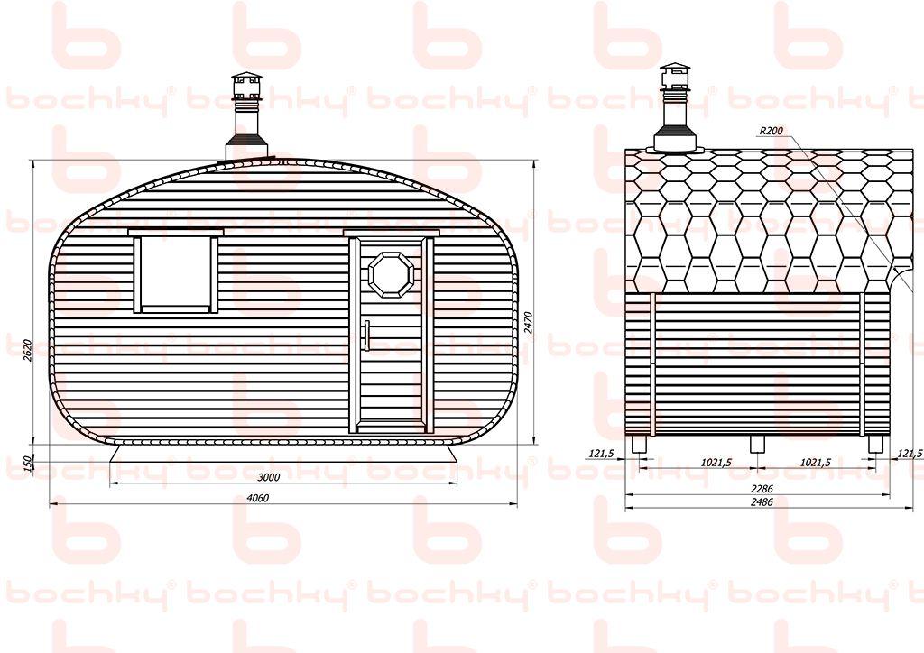 Баня-квадро-овалбочка 4х2