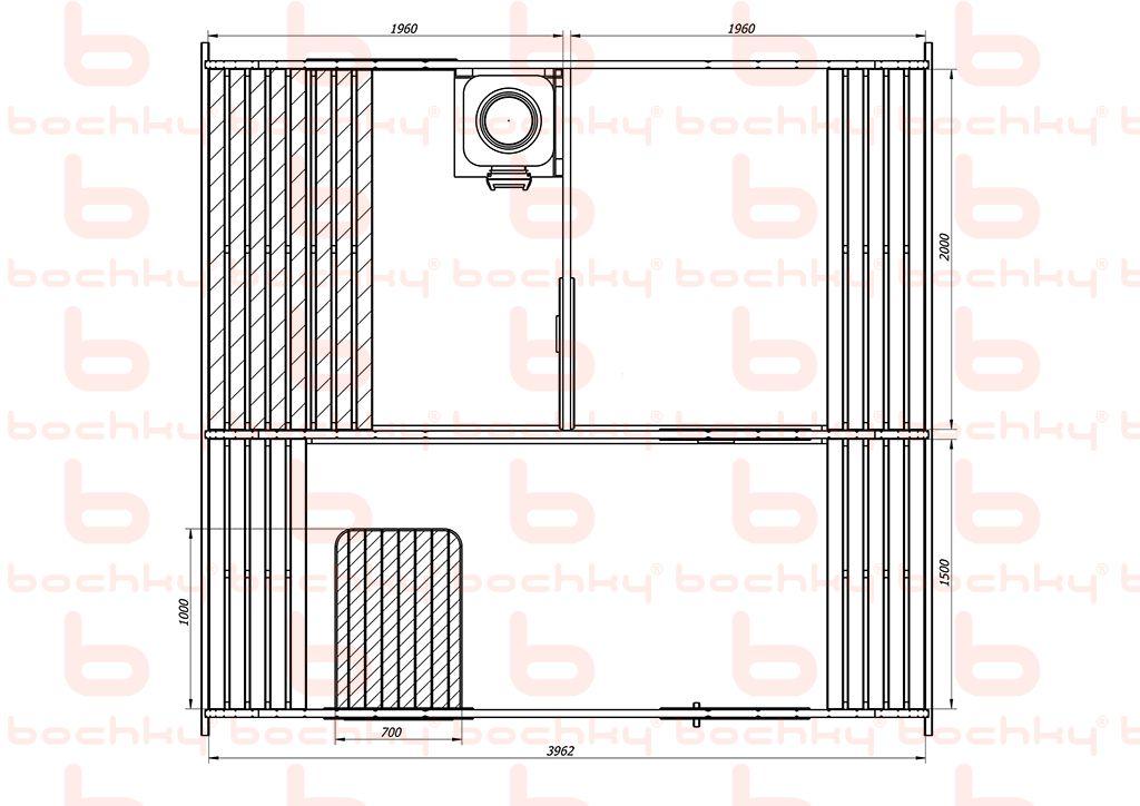 Баня-квадро-овалбочка 4х4