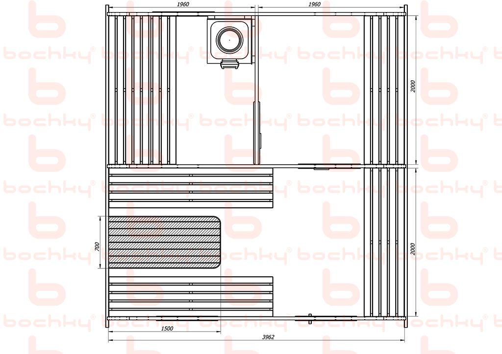 Баня-квадро-овалбочка 4х45