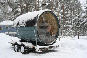 Мобильная баня на прицепе