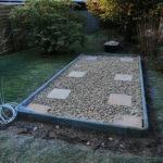 Площадка для установки бани-бочки